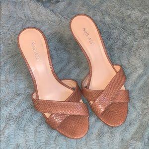 Nine West Tan Heeled Sandals